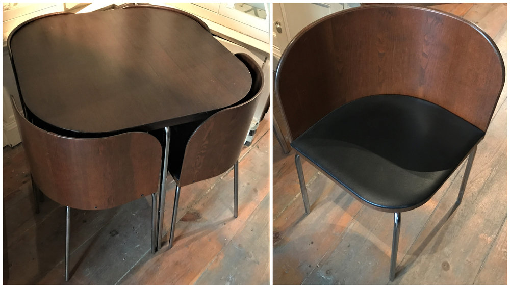 Early 1970's Scandinavian Table and Chair Set