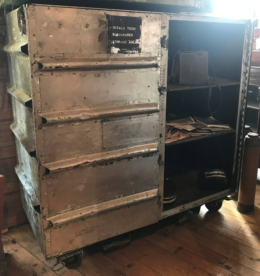 Aluminum Air Force Storage cabinet