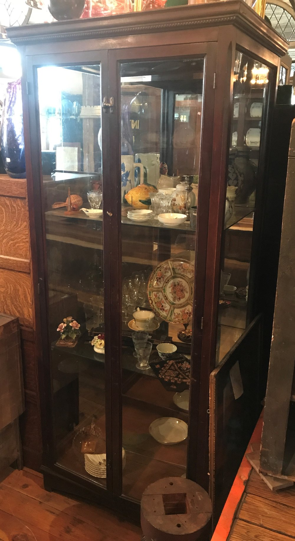 Antique Museum Display Case