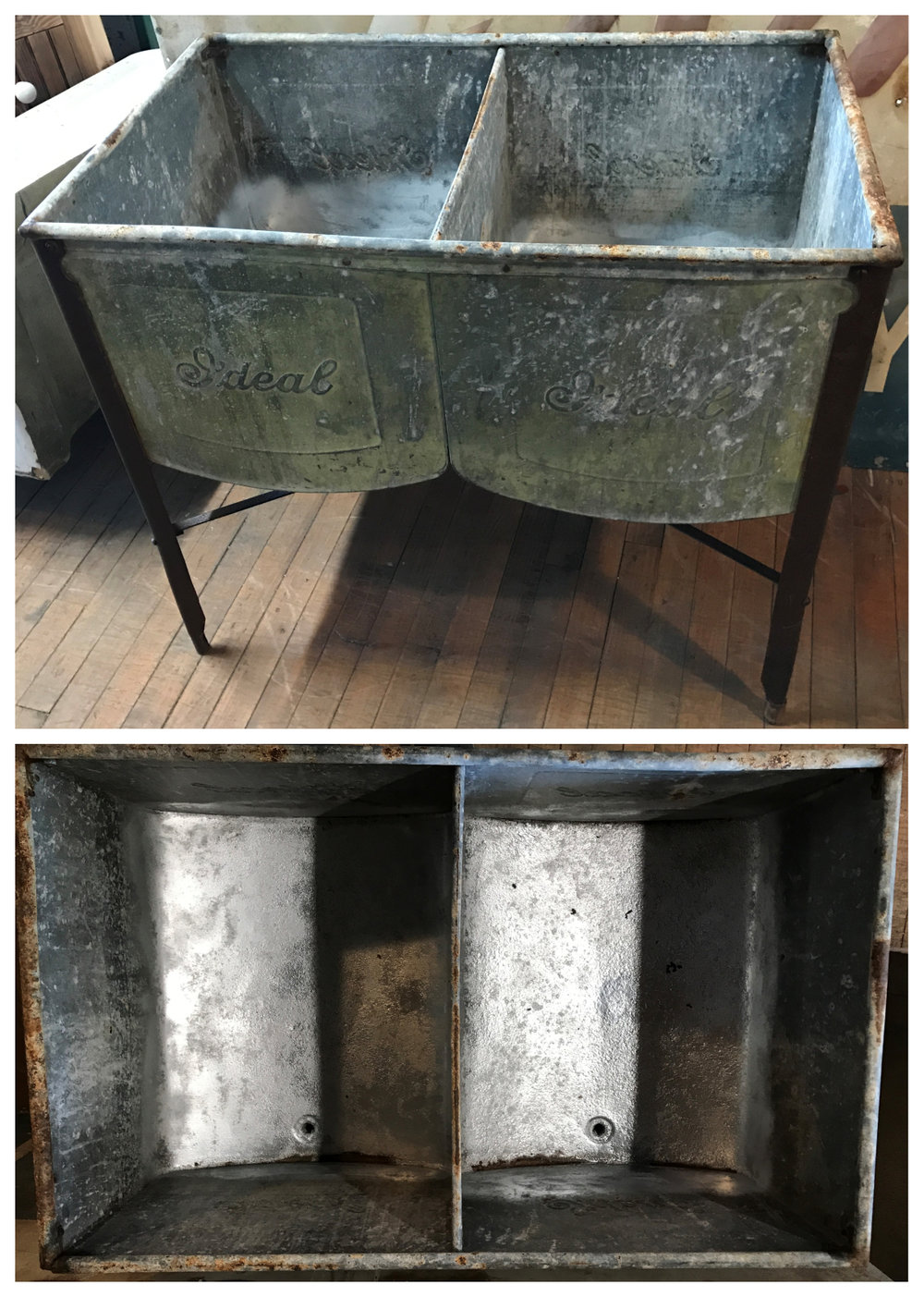 "Antique Double Bay ""Ideal"" Wash Basin"