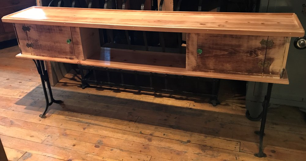 SOLD! Reclaimed Side Table / Sofa Table