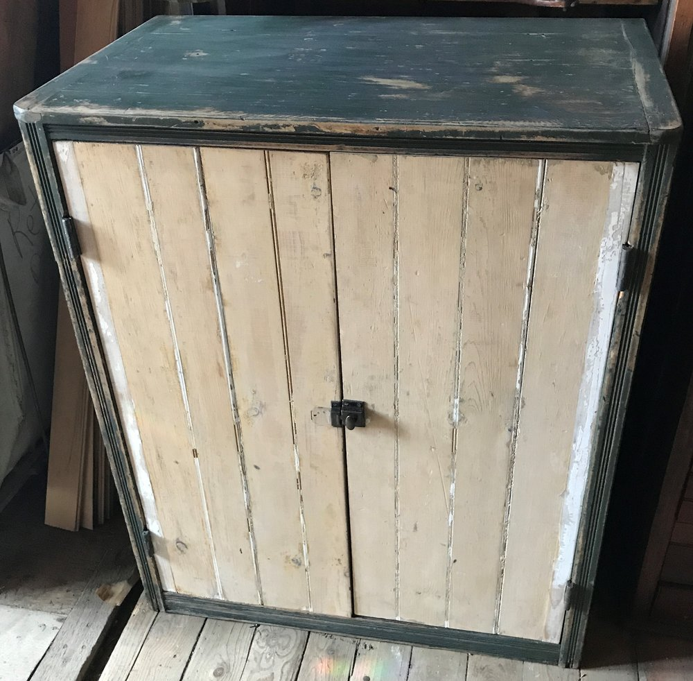 SOLD!  Antique Repurposed Print Cabinet