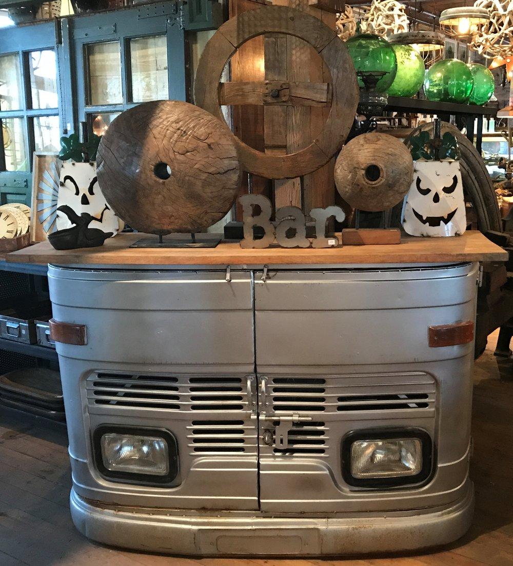 Unique truck front Bar cabinet