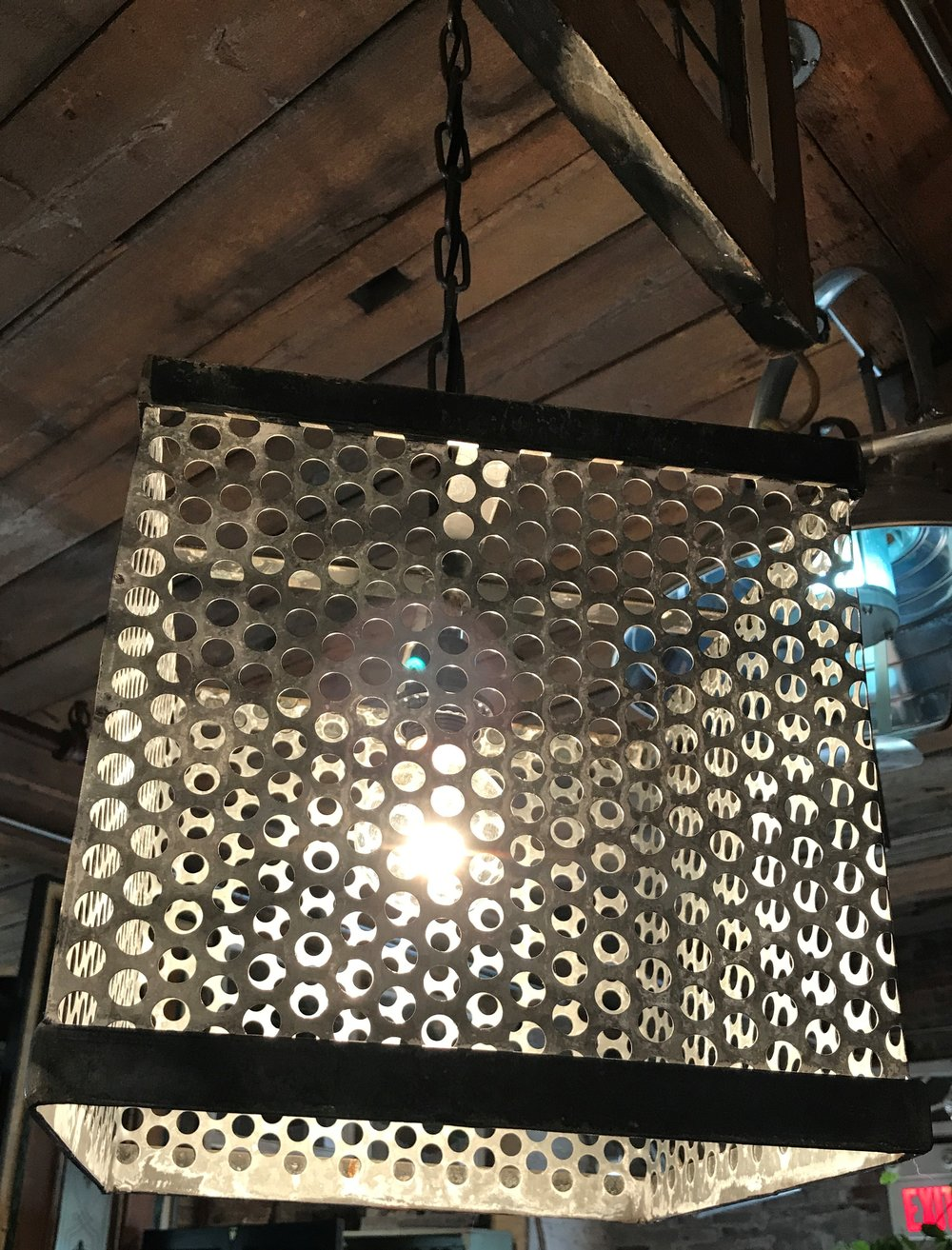 PERFORATED SQUARE PENDANT LIGHTS