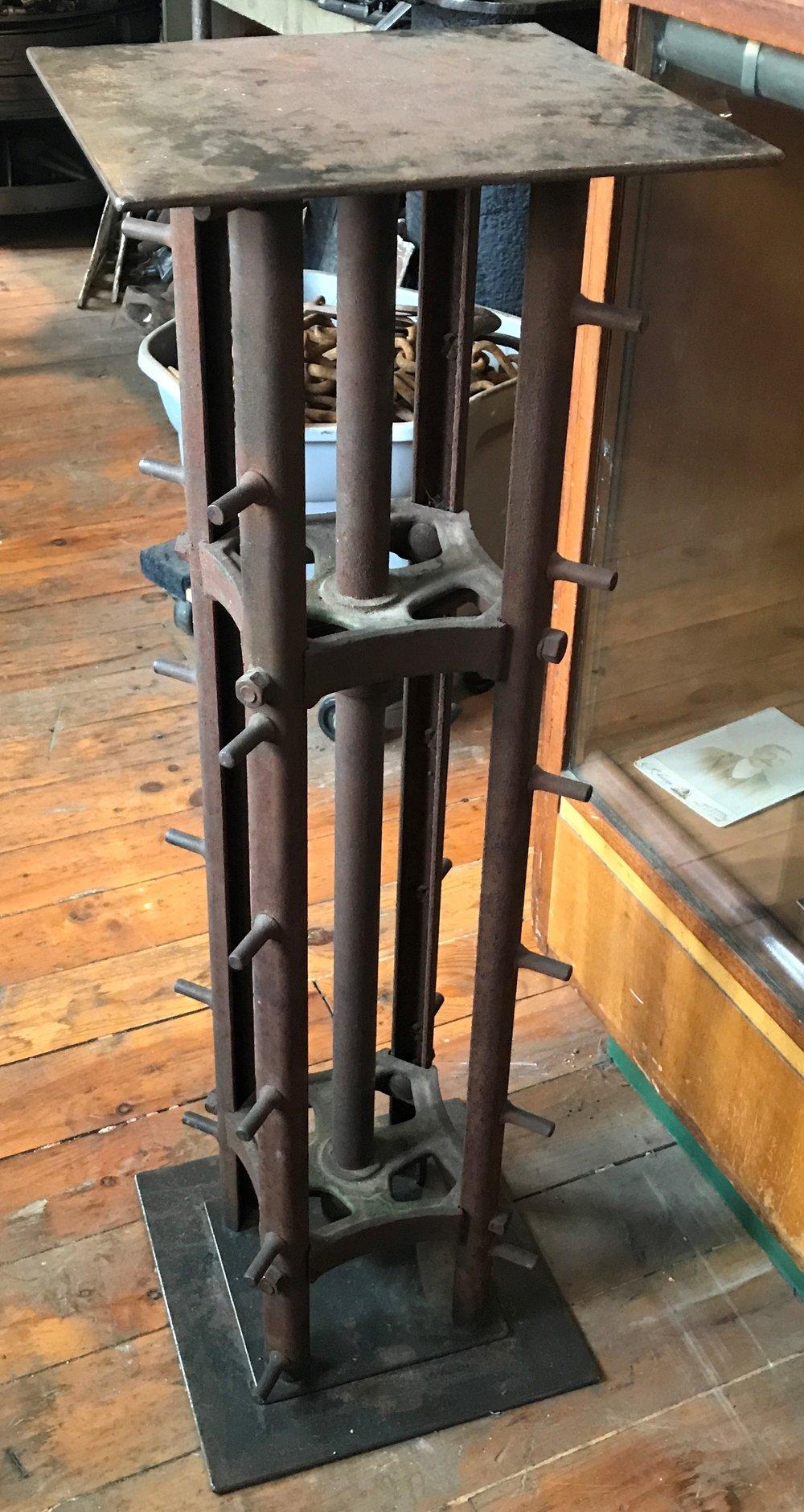 Antique Repurposed Manure Spreader Pedestal