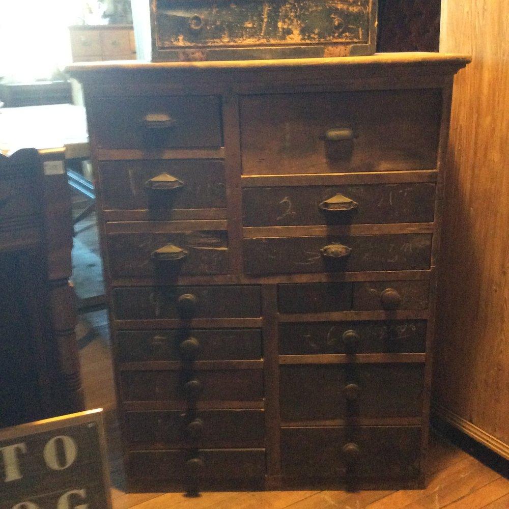 Antique Drawered Storage cabinet