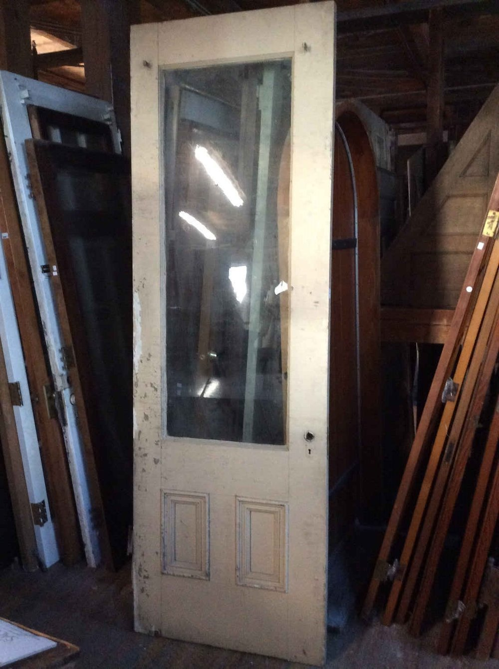 Antique 3/4 Glass Entry Door - All Doors — Portland Architectural Salvage