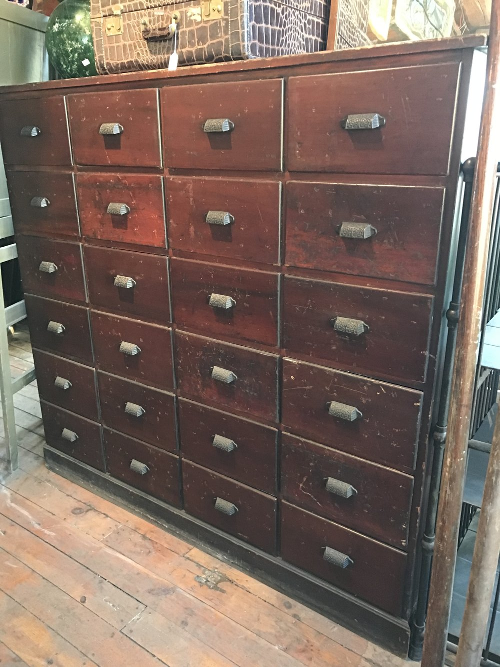 24 drawer antique Apothecary cabinet