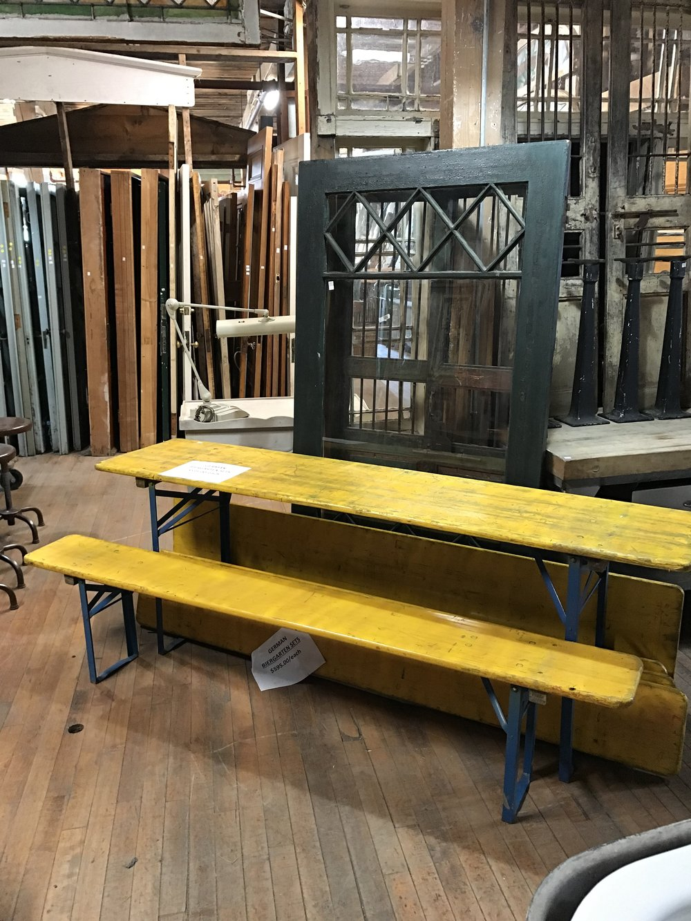 SOLD! Folding Beer Garden Bench and Table Set