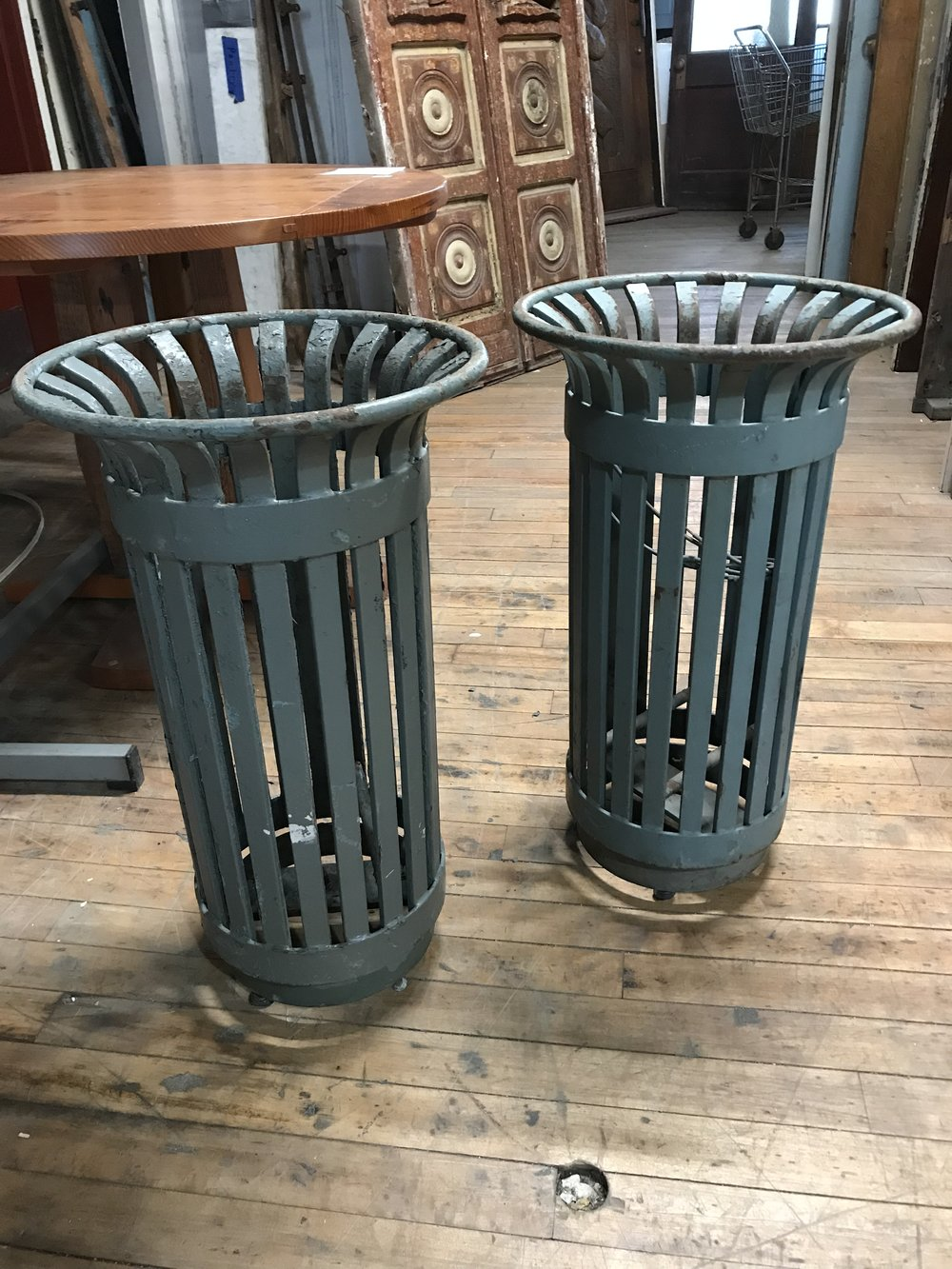 Heavy Iron Trash bins from Tompkins Square Park NYC