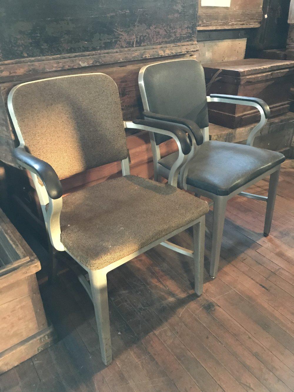 Vintage Metal Office Armchairs