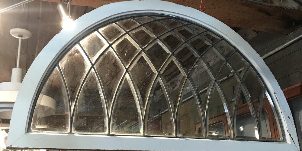 Beveled Glass Fan style Transom