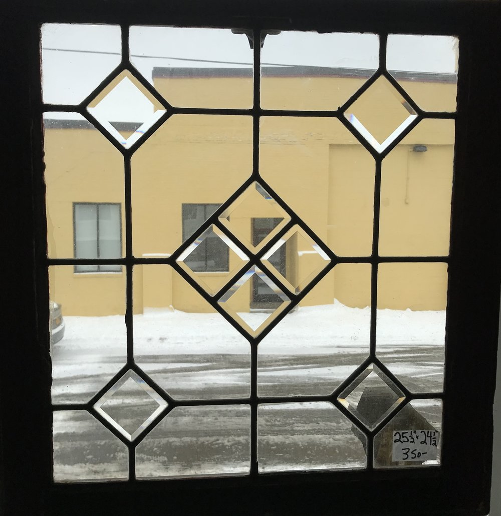 Leaded and beveled glass