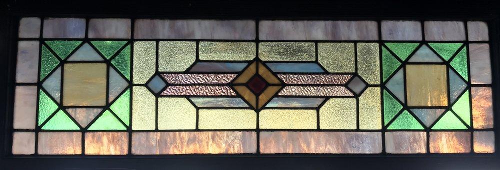 SOLD!!  Geometric Transom window