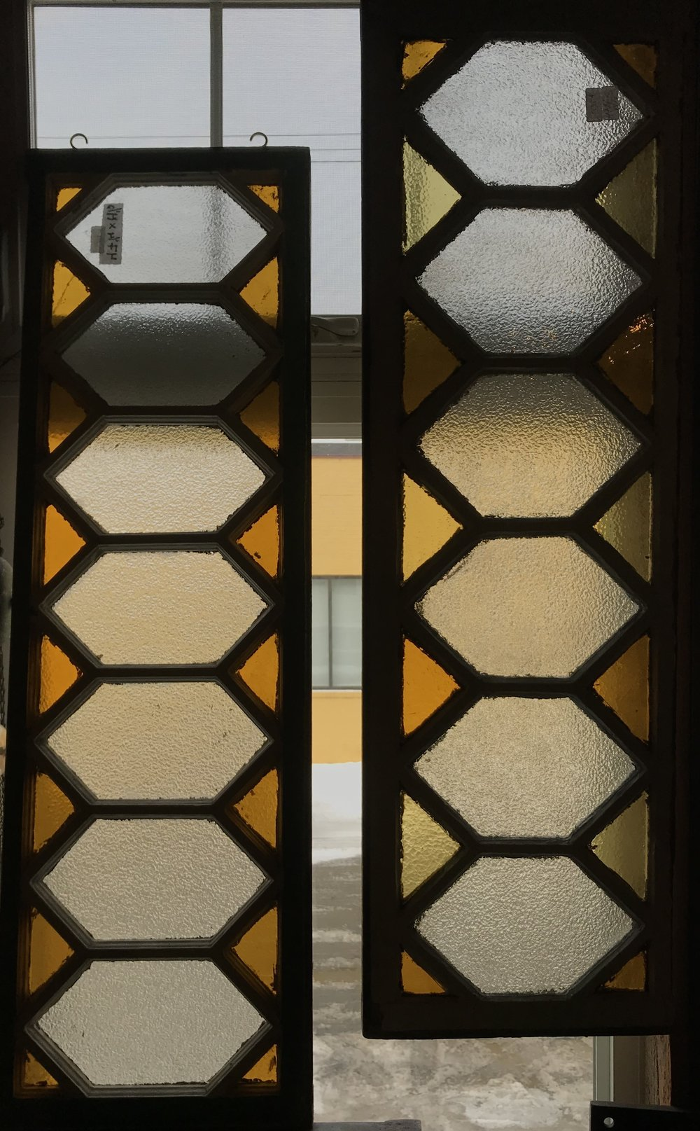 Privacy glass transom windows or sidelights