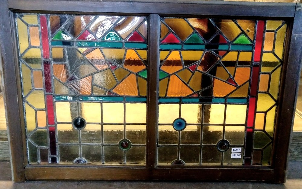 Aesthetic Movement Stained glass sash