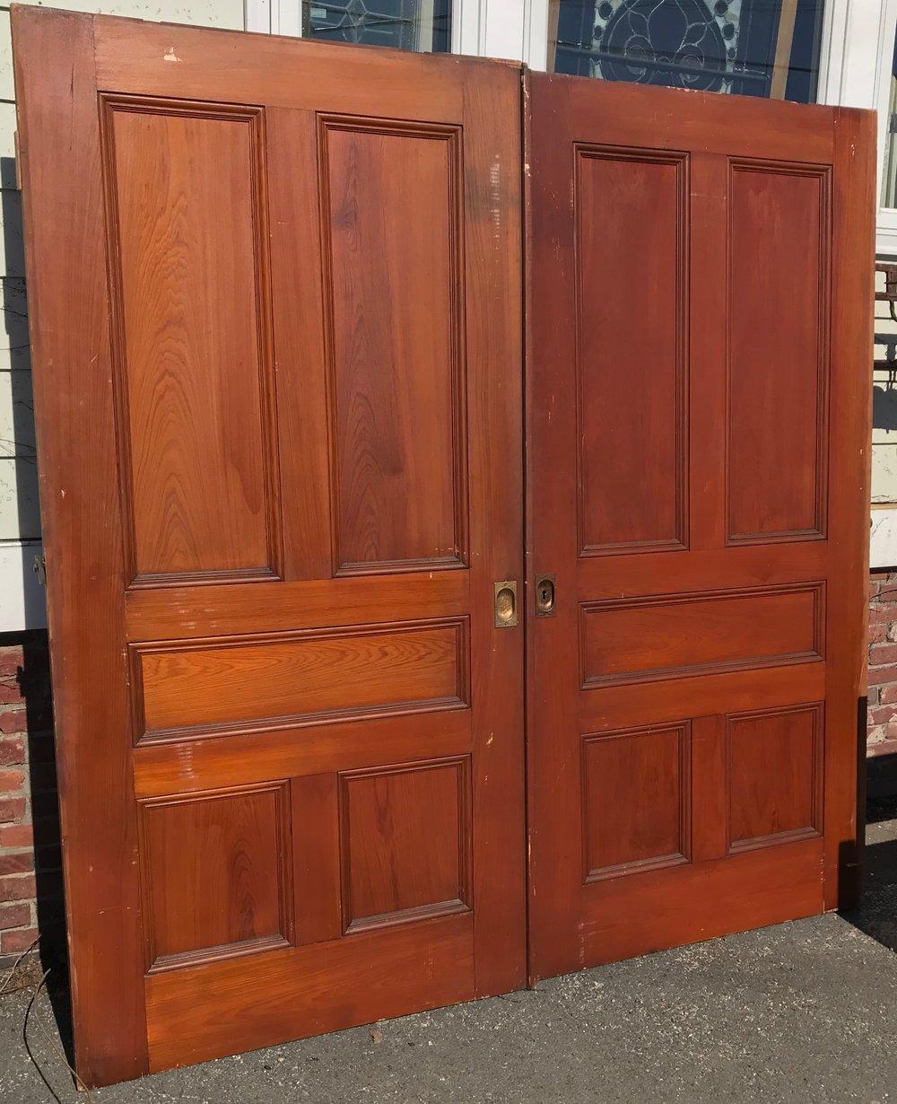 Pair antique pocket doors
