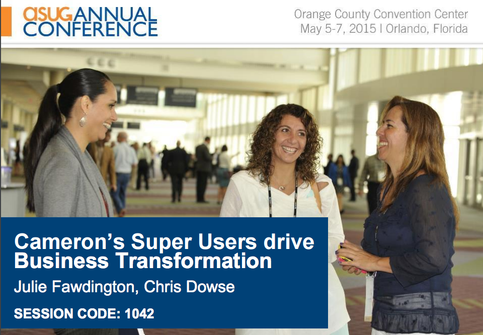 Cameron's Super Users drive Business Transformation Part 2