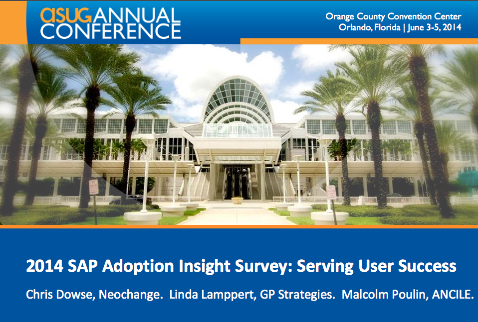 2014 SAP Adoption Insight Survey