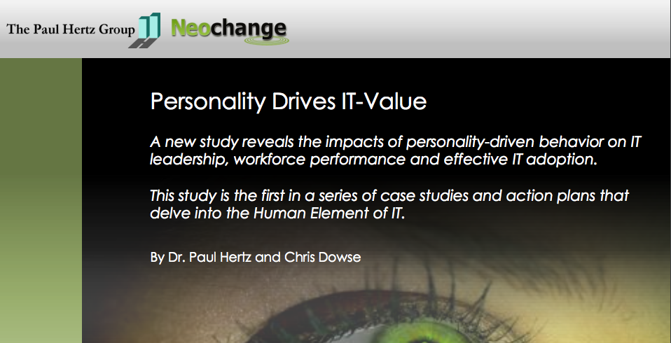 Personality Drives IT Value