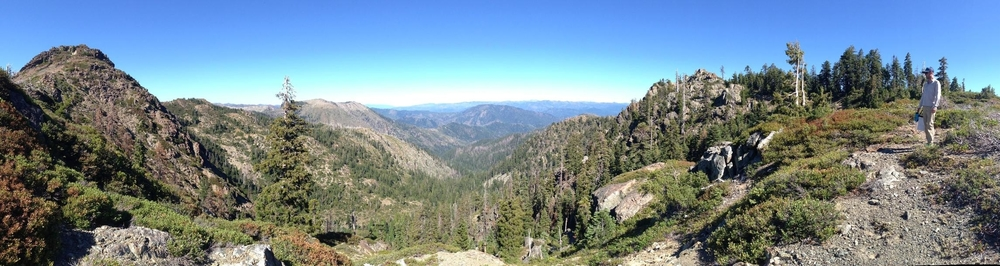 Sawtooth Mt on the left. Elk Hole Botanical Area located in the basin below.
