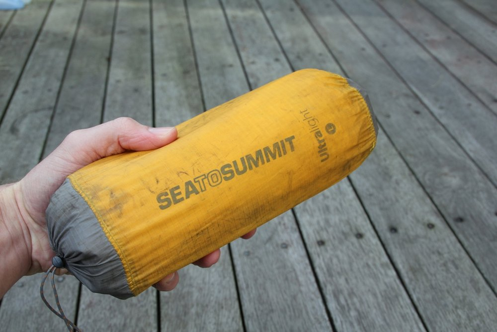 Sea to summit ultralight air mat uninsulated packed