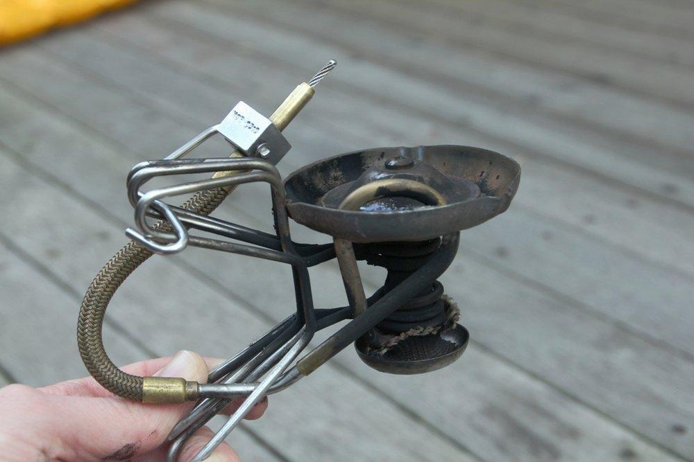 MSR whisperlite multi-fuel stove folded