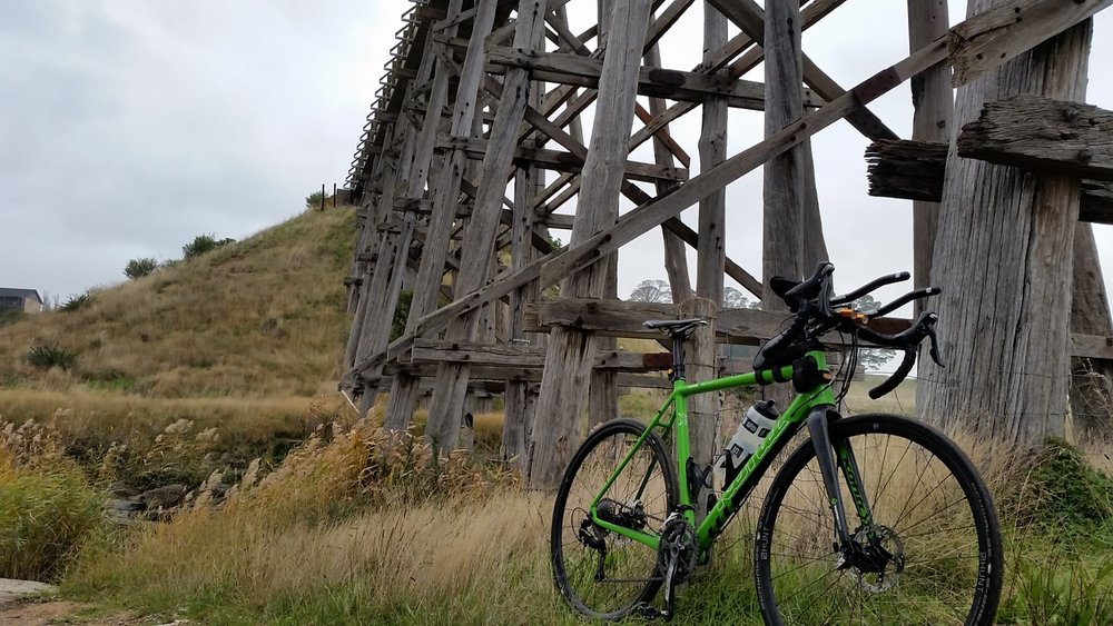 Ballarat skipton rail trail bridge