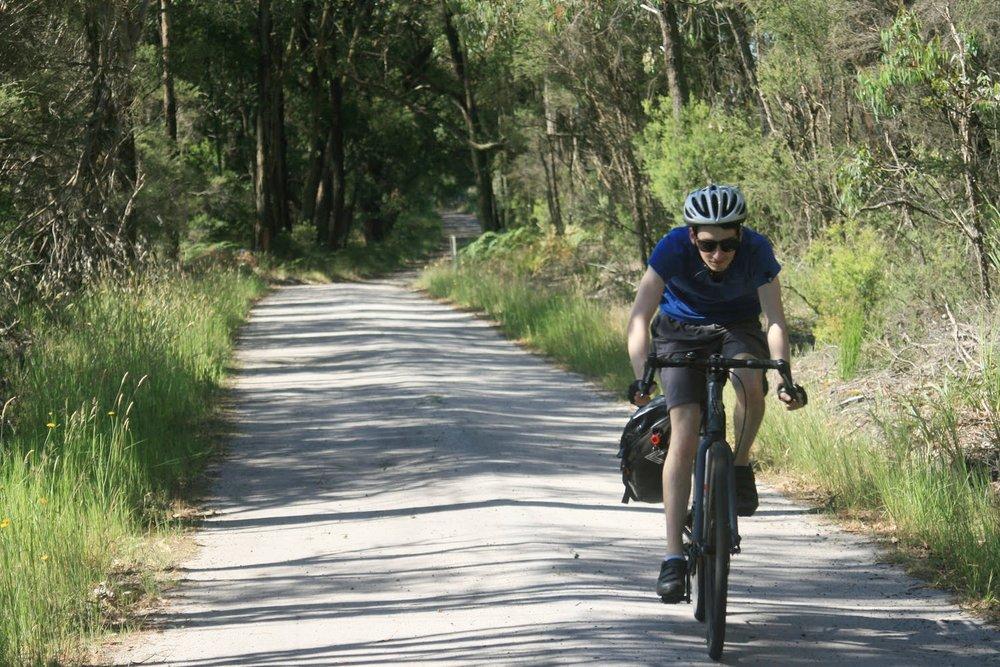 old beechy rail trail cycling