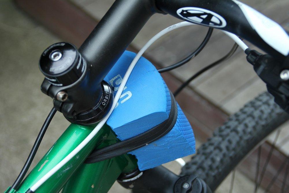 foam bumper bikepacking handlebar roll