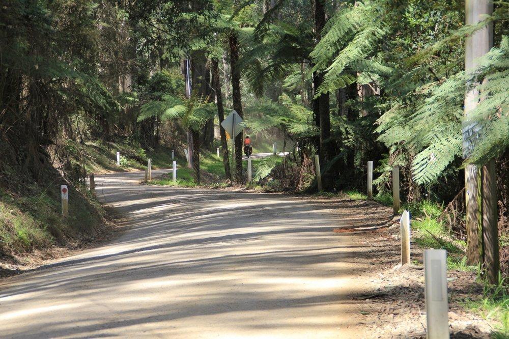 basin olinda road dandenongs cycling