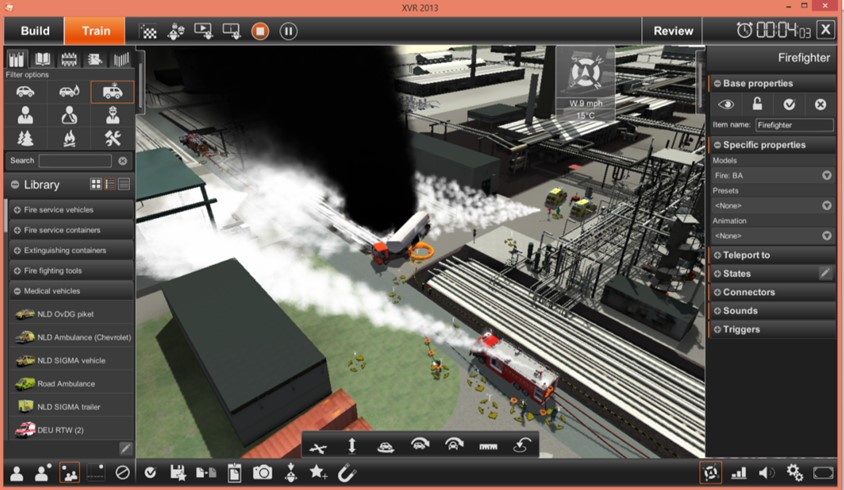 XVR On Scene module provides immersive 3D visualisation of an incident scenario