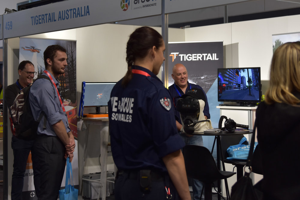 XVR virtual reality training software on show at AFAC17