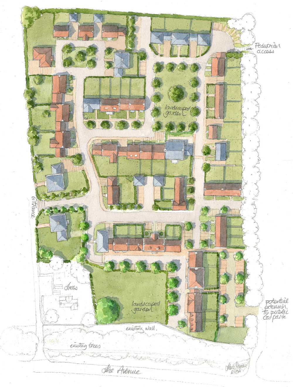 alderwood site plan, alresford
