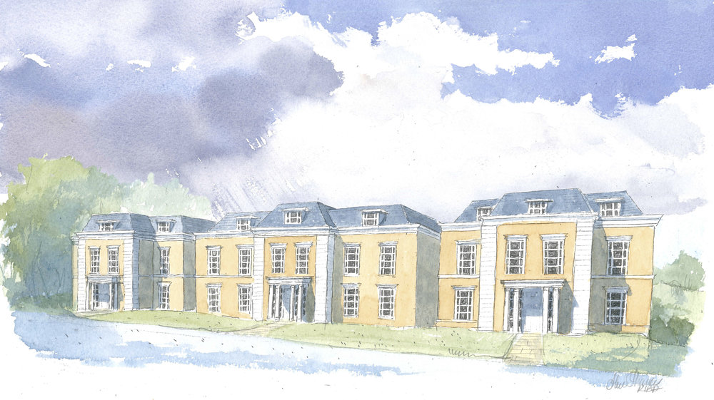 21-23 Chibolton Avenue Front Elevation Watercolour.jpg
