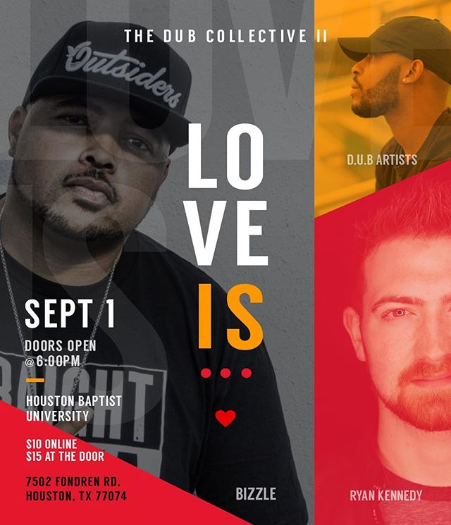 Come through and show some love while we learn what true #LoveIs...the line up is crazy, you don't want to miss this! Ticket info on website. #houstonpoetry #houstontx #DUB #Diverse #Unified #Body #SpokenWord #Christ #CHH #ChristArt #Htown #DUBCollective #DUB2017