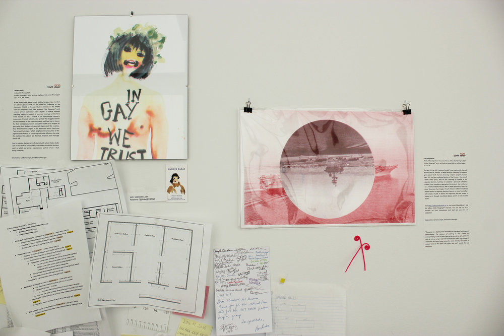"Nadine Faraj,  In Gay We Trust , 2017 Cem Koçyıldırım,  Fleet of Warships  from the series ""News of the Month,"" 2017"