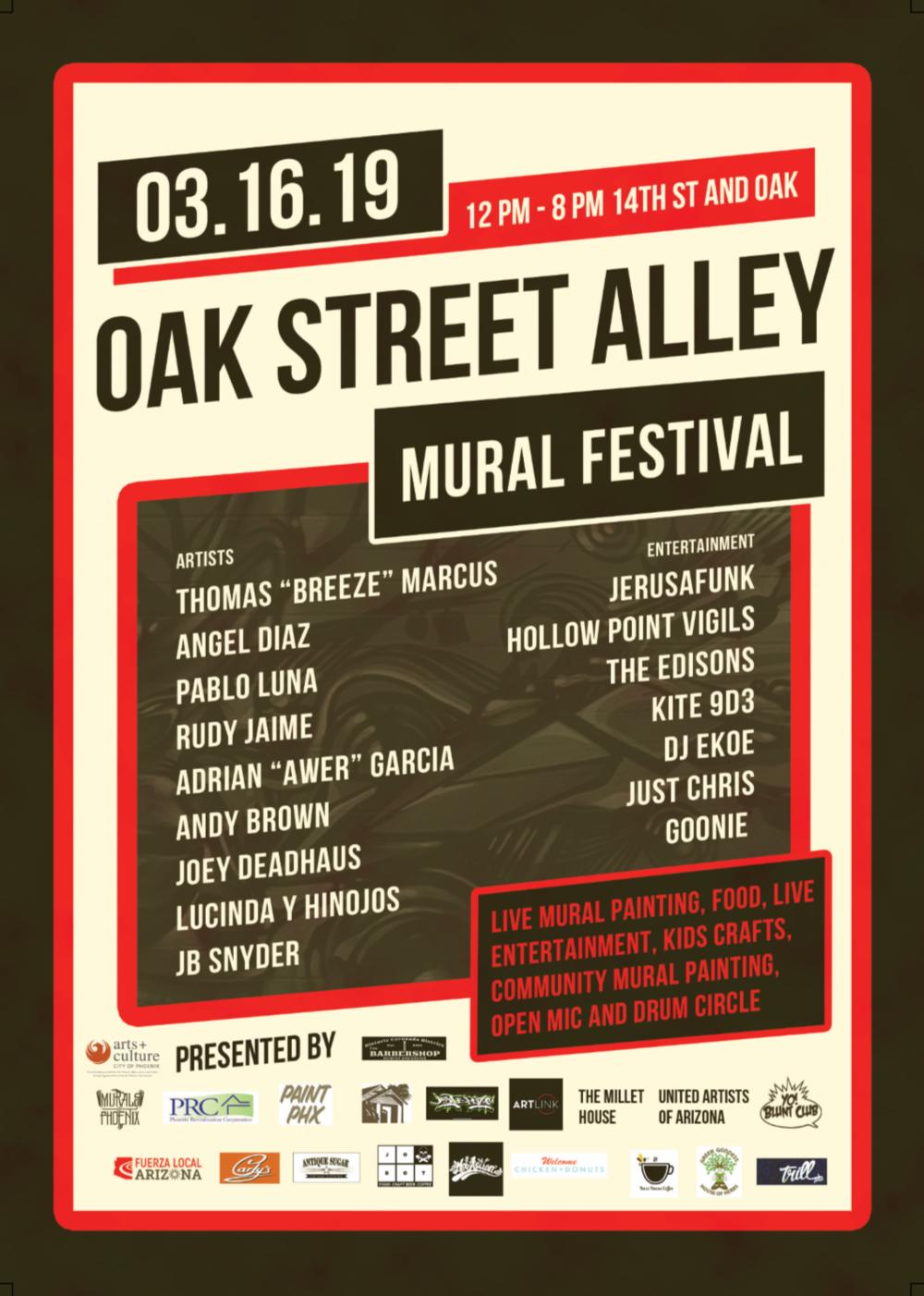 Oak Street Alley Mural Festival