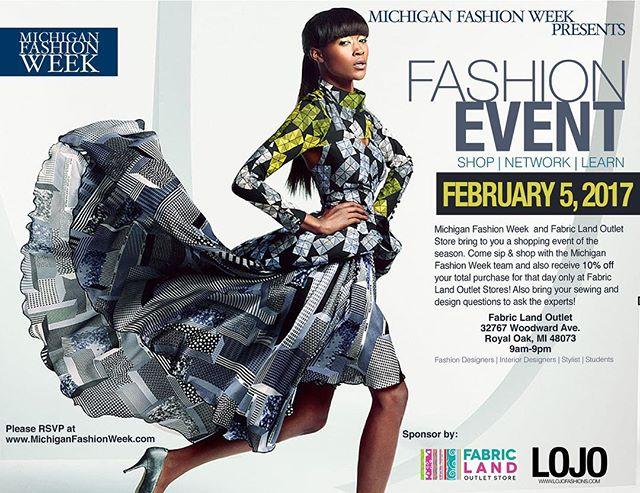 Coming soon! Don't forget to RSVP! #fashiondesign #fashion #michiganfashionweek #fashionevent #sewing #fabrics #fashionbloggers