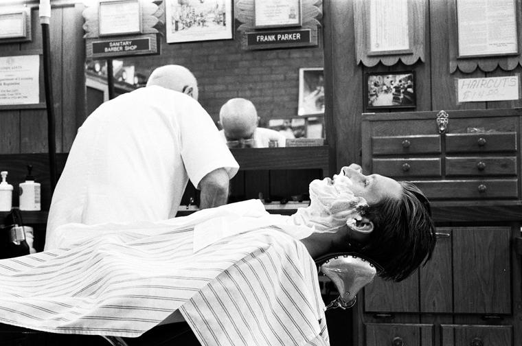 Muleshoe, Texas. Barber Shop