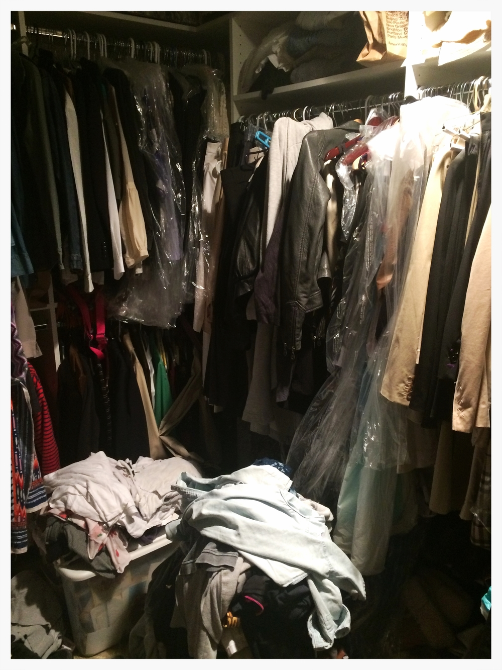 CLOSET EDIT: BEFORE