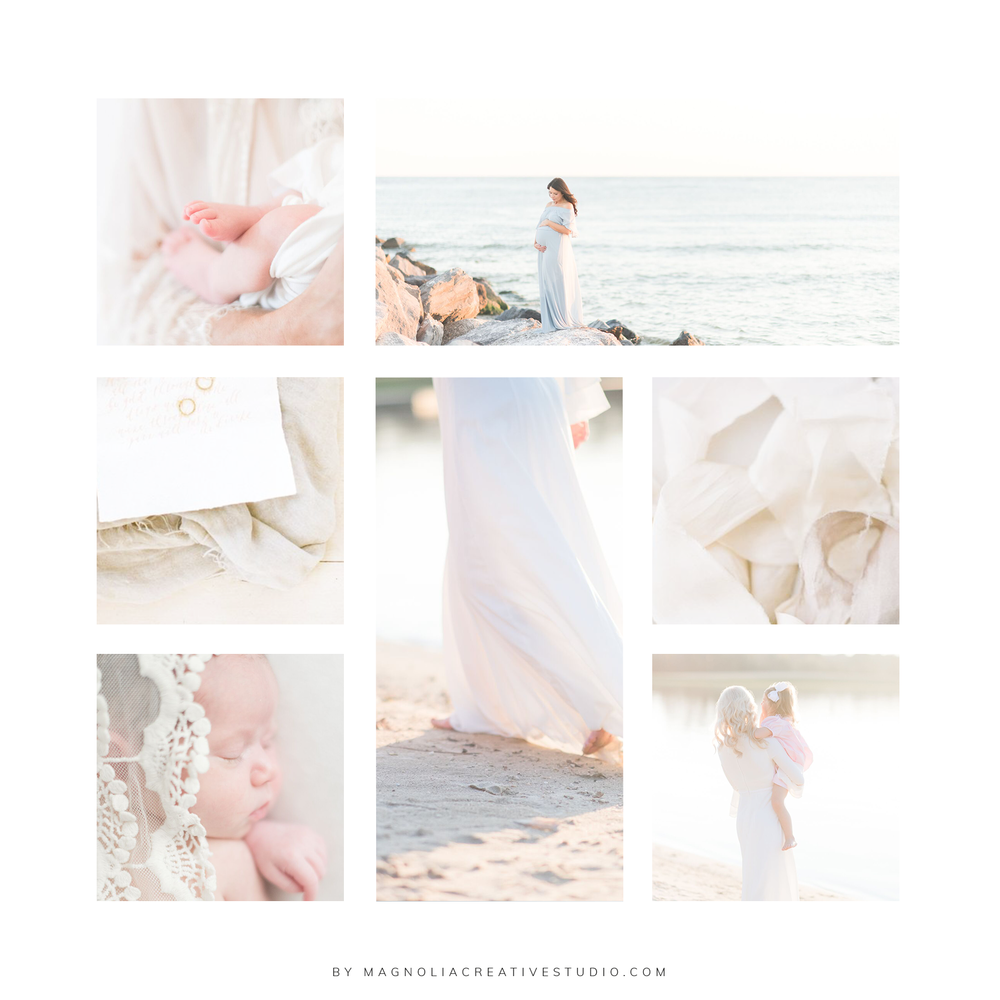 Inspiration Board for Swain Studio Photography - By Magnolia Creative Studio