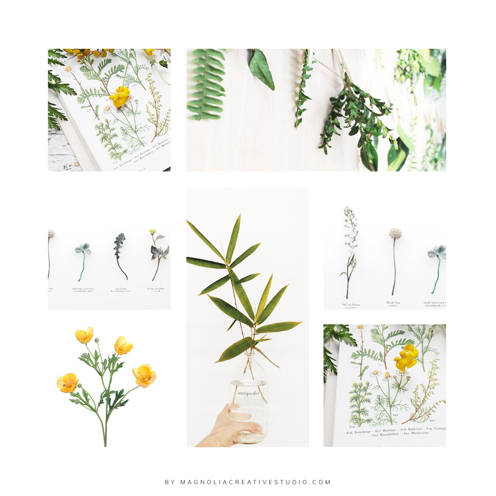 Inspiration Board for Floral Designs by Justine - By Magnolia Creative Studio