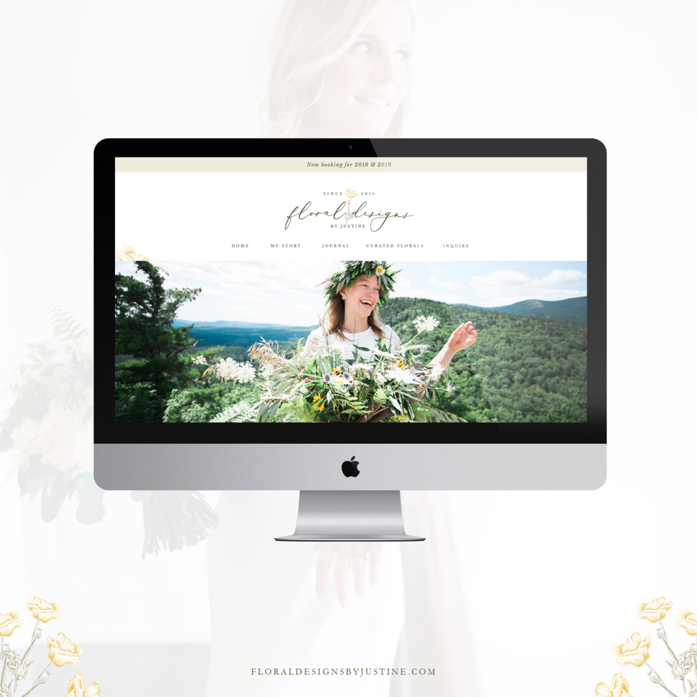 Website for Floral Designs by Justine - By Magnolia Creative Studio