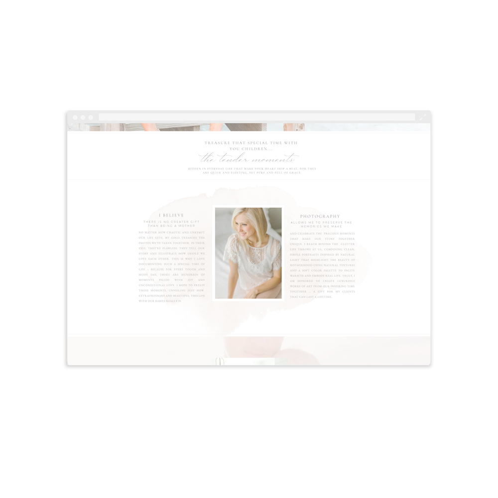 About page - Website Design for Corey Johnson - by Magnolia Creative Studio