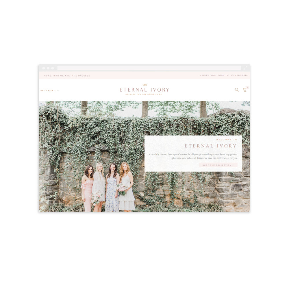 Shopify Website for Eternal Ivory - By Magnolia Creative Studio