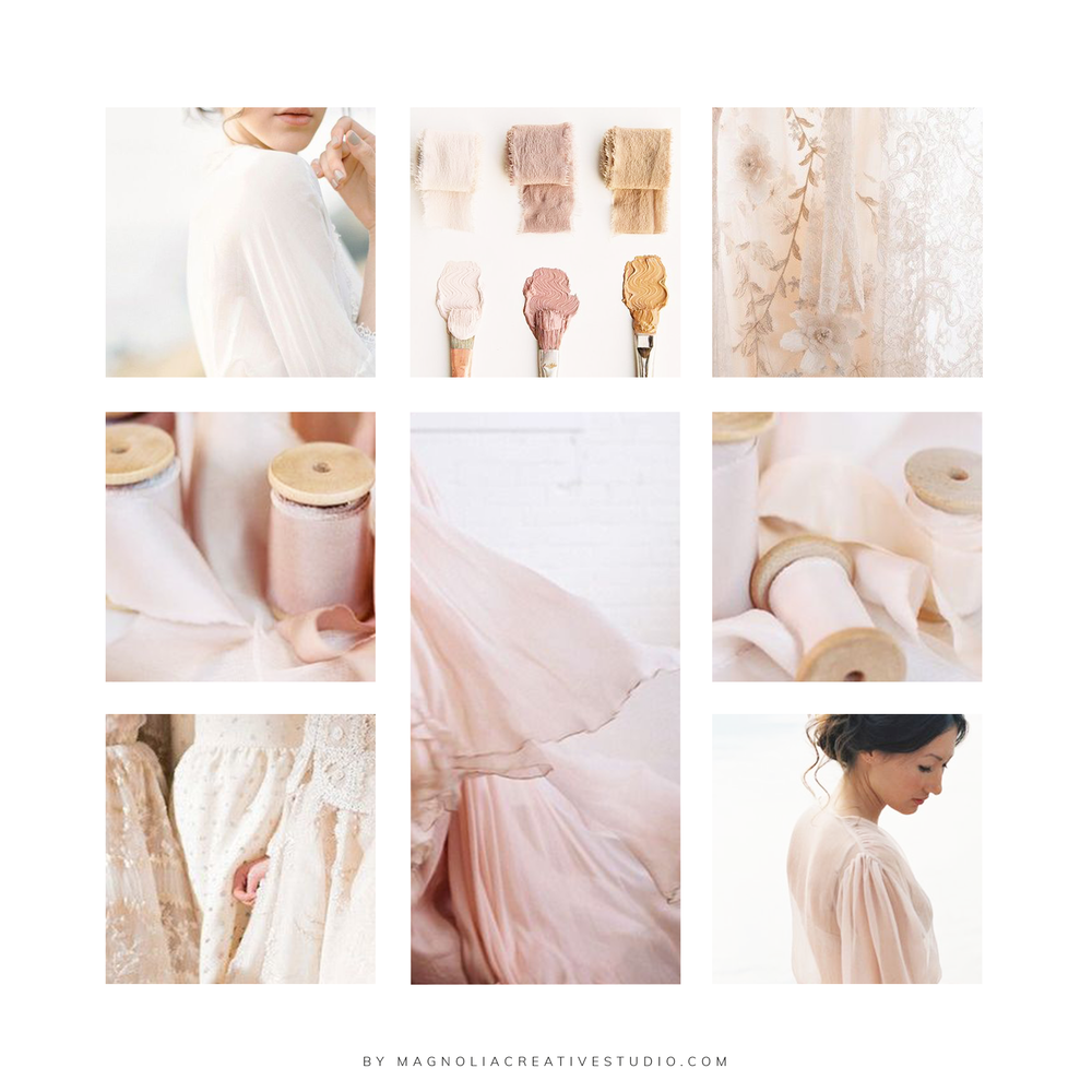 Moodboard for Eternal Ivory - by Magnolia Creative Studio