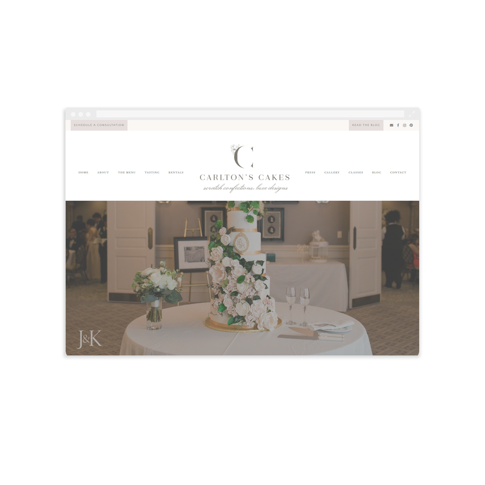 Carlton's Cake New Website by Magnolia Creative Studio