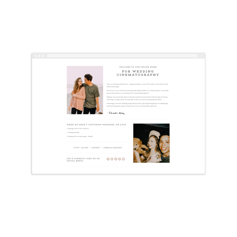 Cinemology Website Design by Magnolia Creative Studio