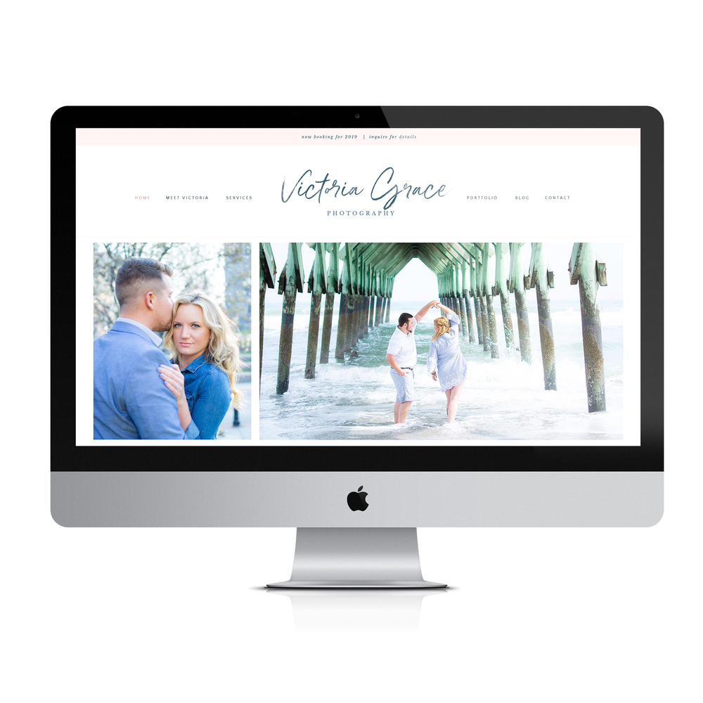 Example of Website for Victoria Grace Photography Brand